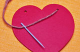 Mending broken heart with needle and thread