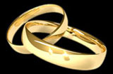 Linked wedding rings